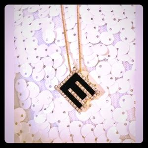 "Jewelry - Letter Initial Necklace ""E"""